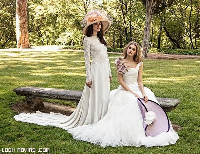 vestidos con encajes para novias bohemias