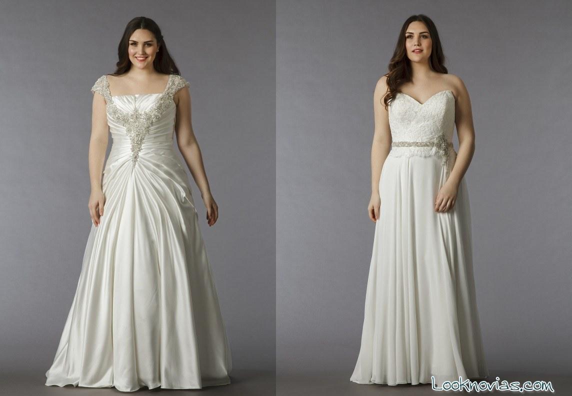 Vestidos para novias gorditas dina davos