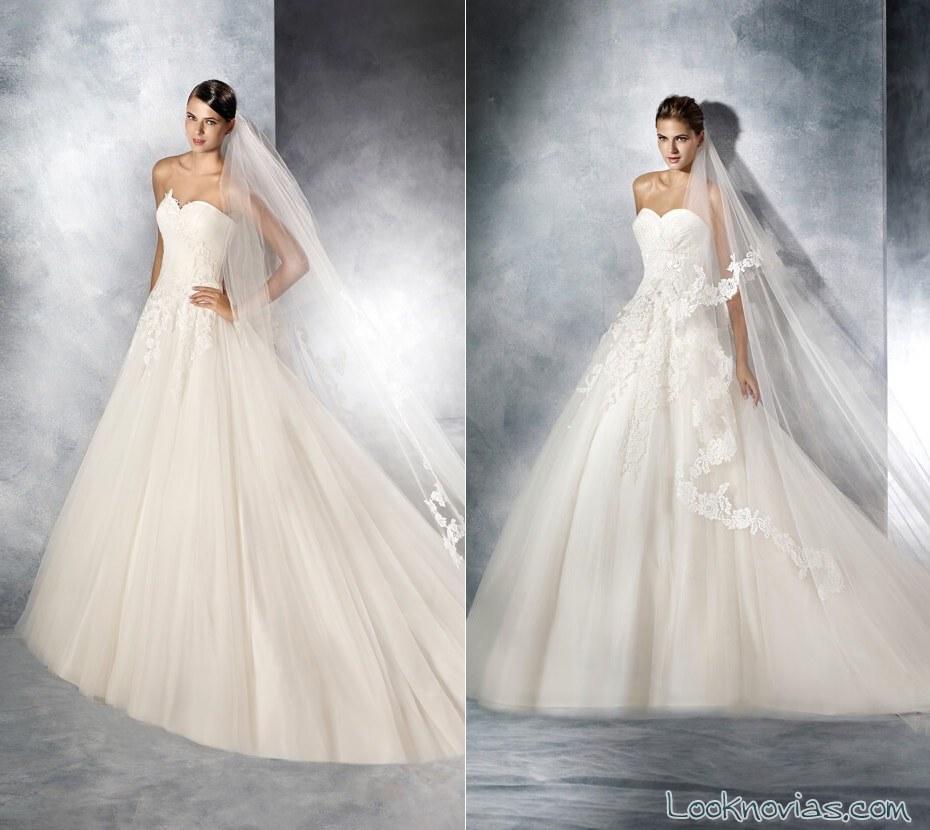 vestidos princesa white one sin tirantes