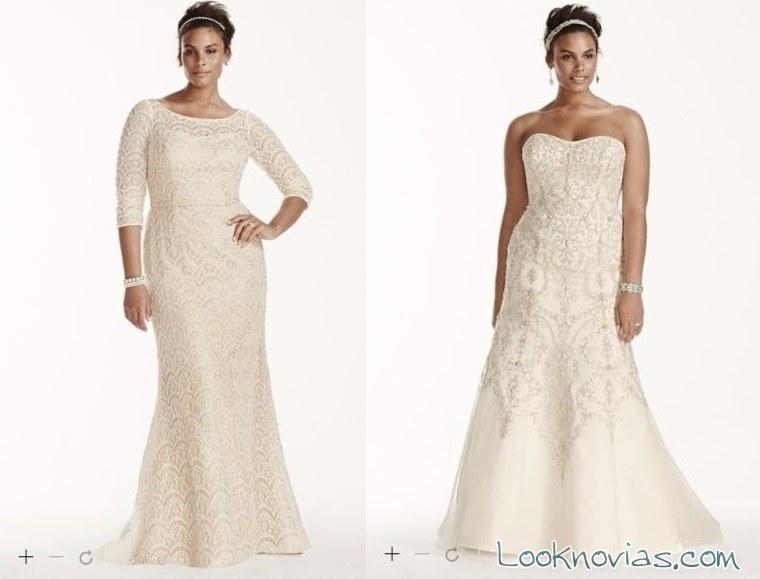 vestidos rectos de novia oleg cassini