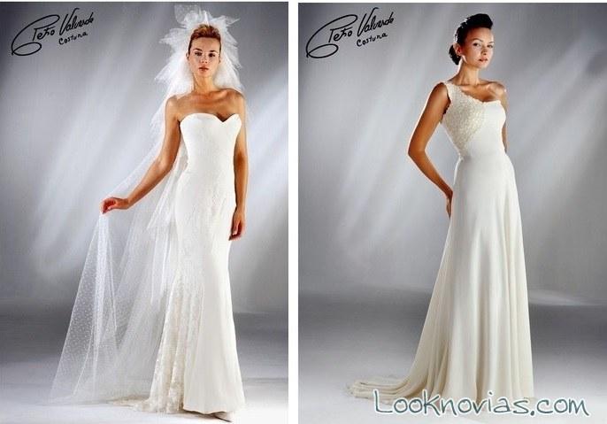 vestidos rectos novias petro valverde