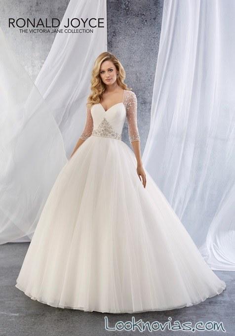 vestidos ronald joyce princesa bordados