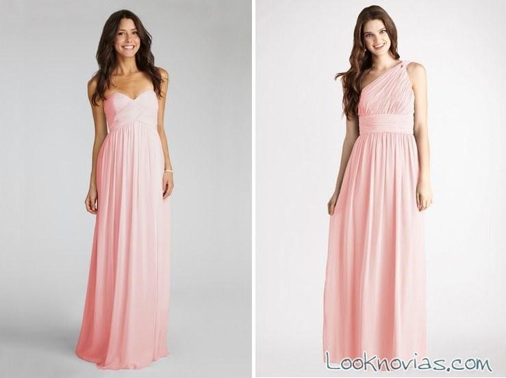 vestidos rosa de Donna Morgan