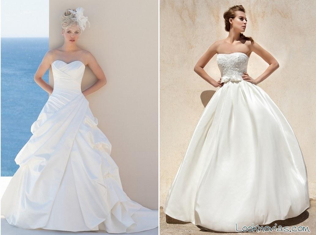 vestidos sencillos de novias 2016