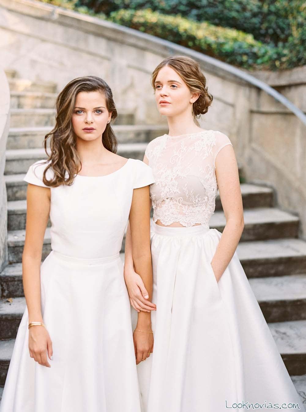 vestidos sencillos novias karen willis
