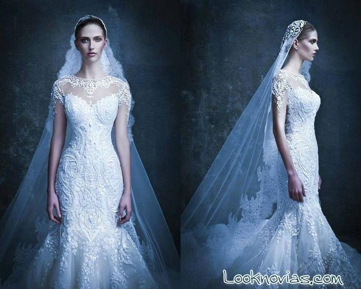 vestidos y velo de novia Michael Cinco