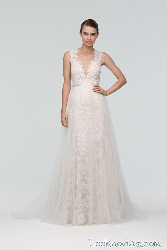 watters vestido con tirantes novias 2016
