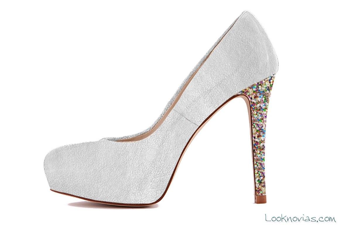 zapato de novia con tacón personalizado