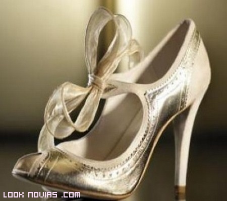 Color De Novias Novia Zapatos OroLook bf76gyY