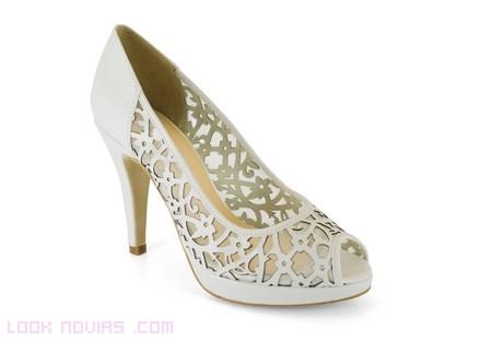 zapatos peep-toe novias