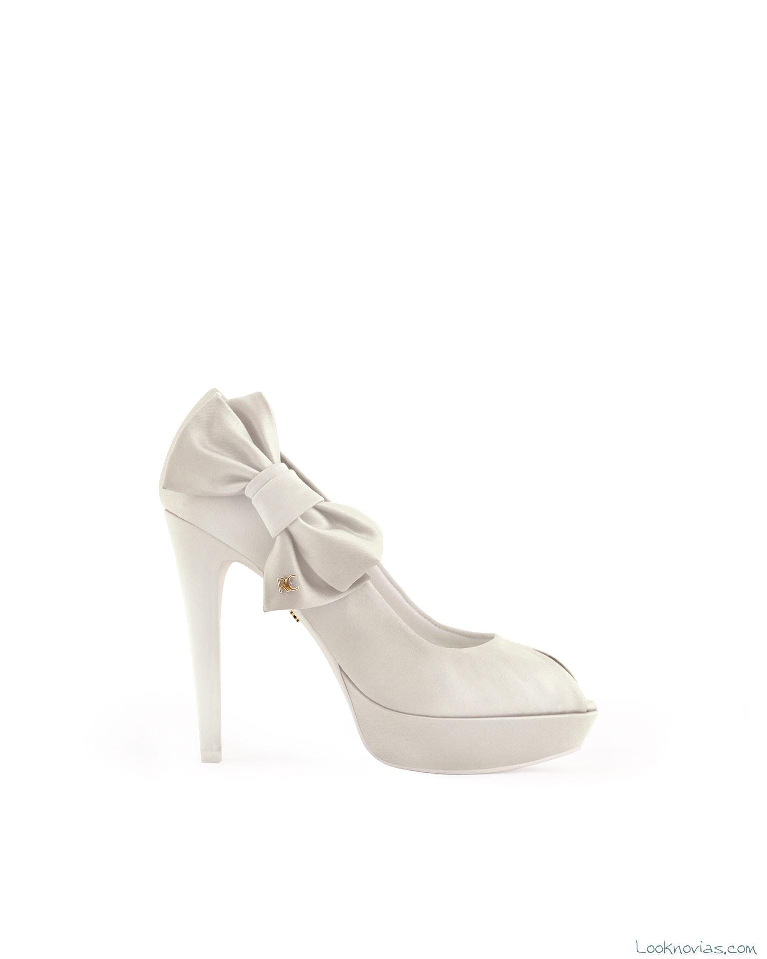 zapatos de novia con lazo lateral