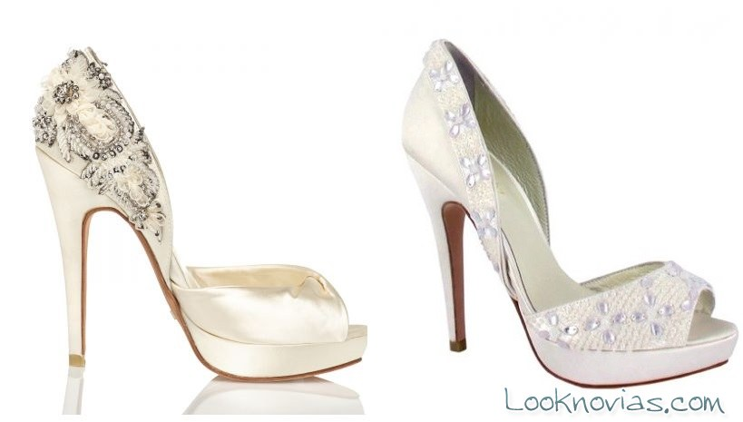 zapatos de tacón muy alto para novias