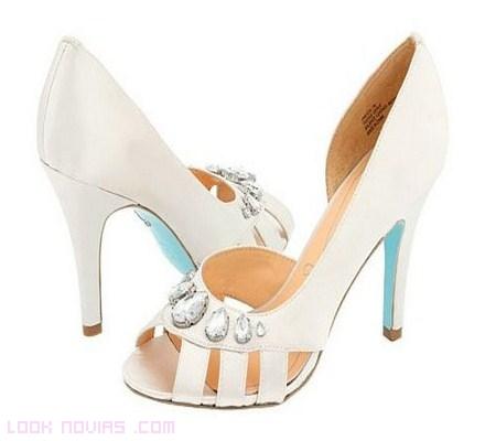 sandalias azules novias