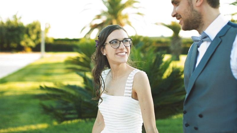 usar gafas el día de tu casamiento