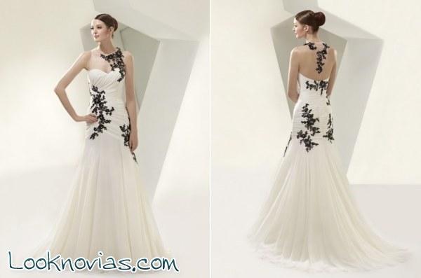 Vestidos de novia con detalles en color negro